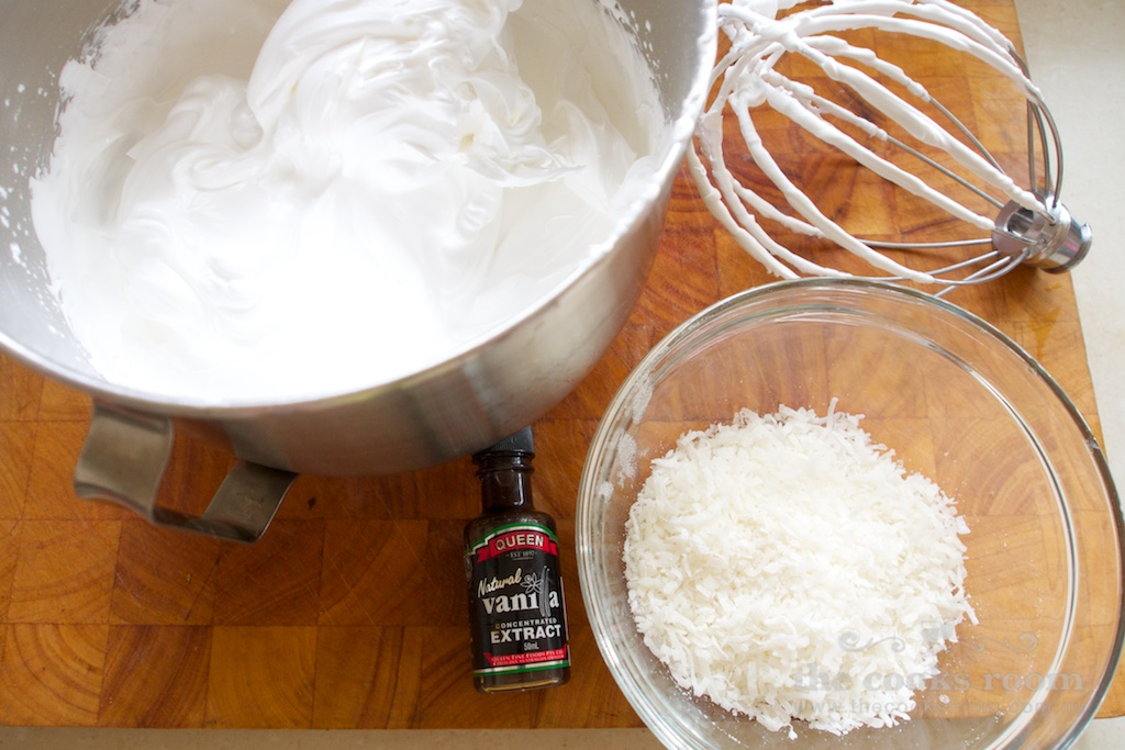 Coconut Pavlova ingredients