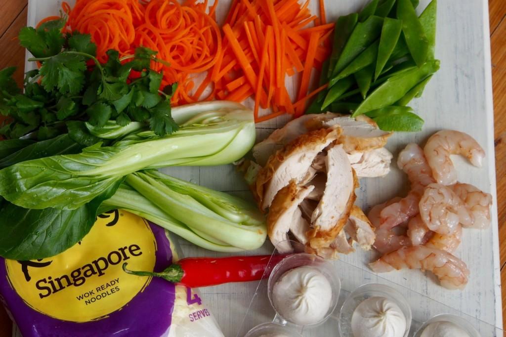 Wonton soup ingredients