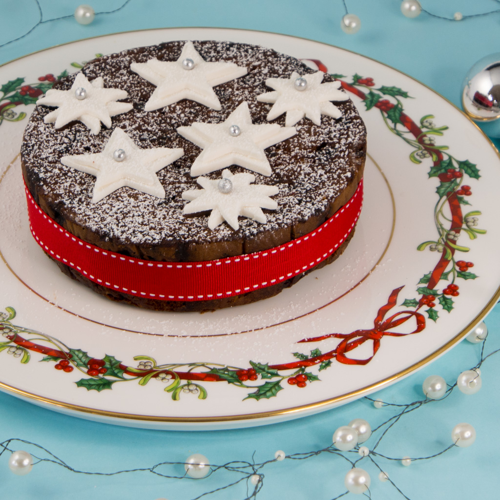 Christmas cake topping